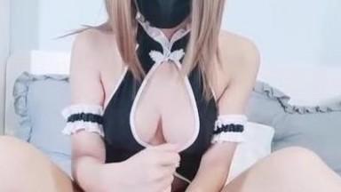 白丝袜格罗丫新娘花嫁自慰爆乳装足交女上位07